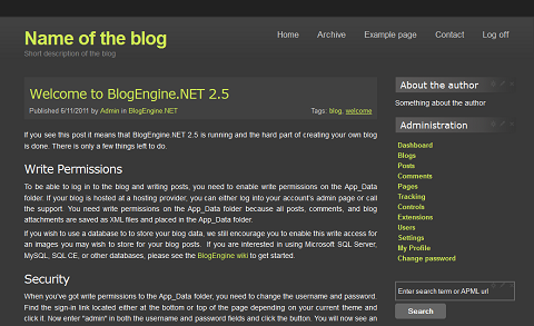 Darkblog Theme